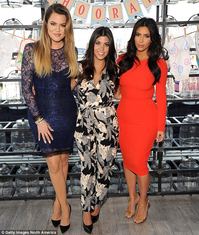 Process of elimination: Only three women in that family, in fact, have the surname Kardashian: (from left) sisters Khloé, Kourtney and Kim