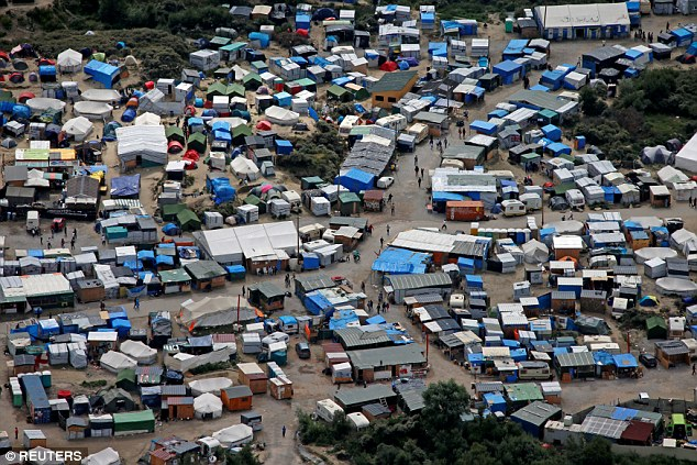 The surge in numbers comes after French officials warned this week that increasing numbers of jihadi terrorists could be hiding among the refugees at the sprawling site near the ferry port, pictured