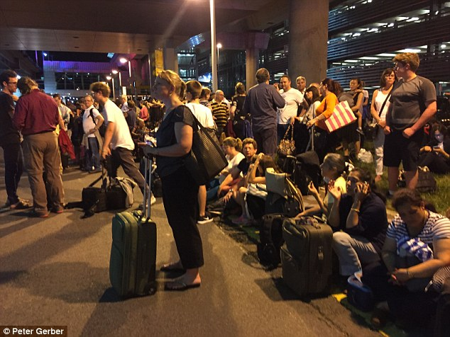 Thousands of passengers were forced to evacuate the terminal shortly after 9.30pm
