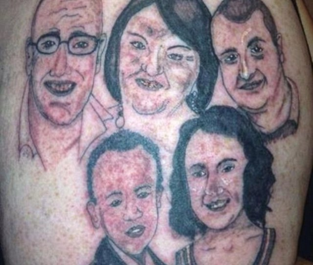 Paying Tribute This Person Had A Family Of Five Tattooed Onto His Bicep