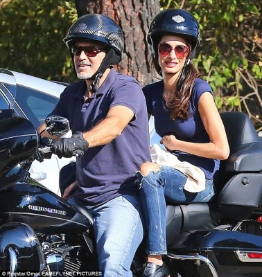 Enjoy yourself: The pair have a whirlwind jetset life so were clearly enjoying some down time
