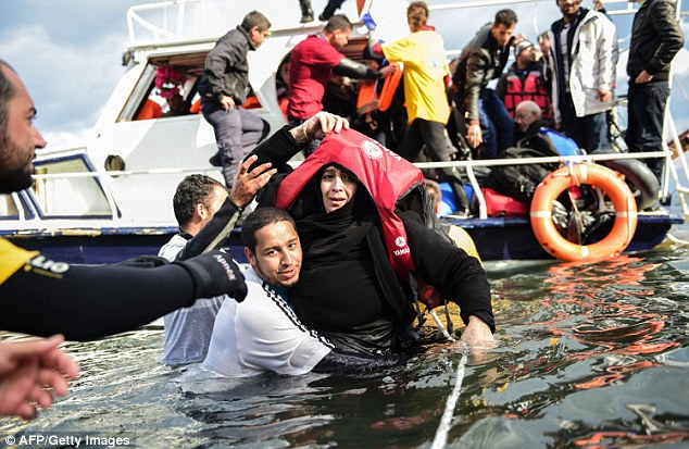 It is feared ISIS terrorists are hiding among genuine refugees who made the perilous trip. File photo
