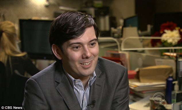 'Good guys': Martin Shkreli defended Mylan for increasing EpiPen prices by 461 per cent over nine years, saying they're the 'good guys' and that the $317.82 cost per pen isn't high