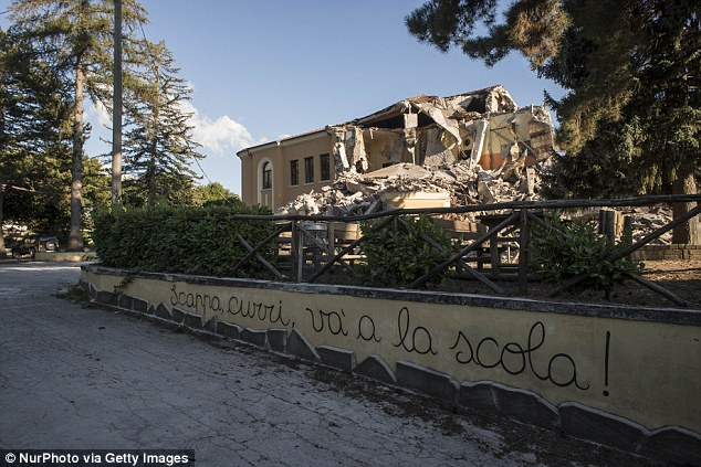 Romolo Capranica school in Amatrice collapsed on Wednesday despite 700,000 euros worth of investment to make it 'quake-proof'