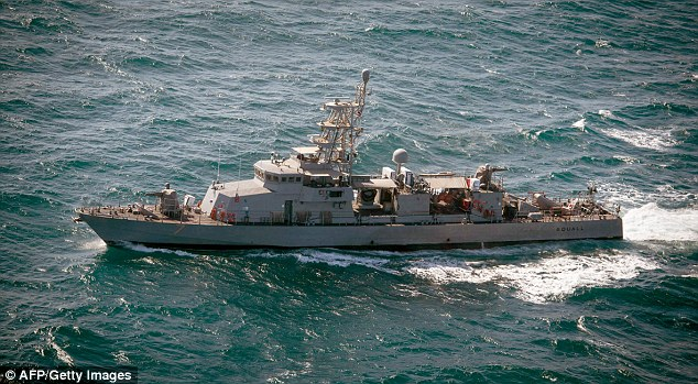 There were four dangerous incidents in the last week alone including one in which the USS Squall (pictured) was forced to fire three warning shots at Iranian patrol vessels