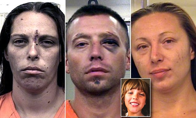 Mother, boyfriend and cousin are arrested for dismemberment of girl and setting her on