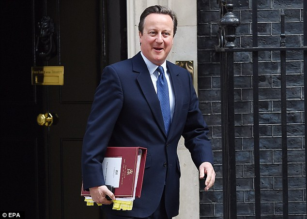 Mr Cameron leaves Number 10 Downing Street for Prime Minister's Questions in July this year, before he handed over the keys to the most powerful office in the country to Theresa May