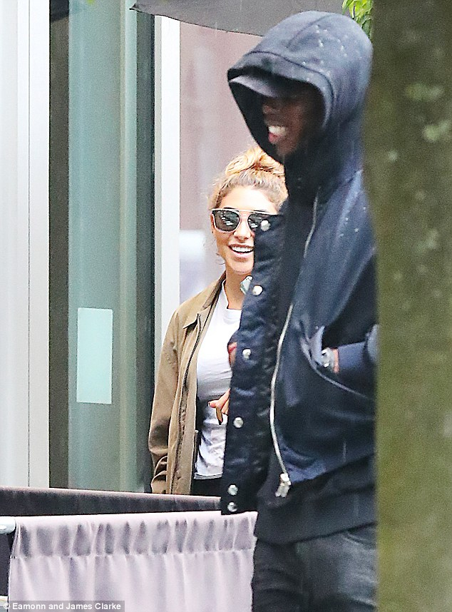 New romance? Paul Pogba and Chantel Jeffries were spotted together in Manchester on Thursday