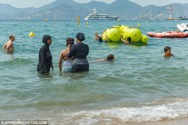 Four women were fined 38 euros on the beach in Cannes because of their burkinis