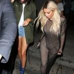 Kim Kardashian Rocks Blonde For Kanye West's Art Exhibition