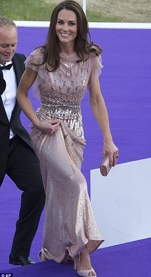 As per usual, Kate looked stunning in this crystallized lilac ball gown