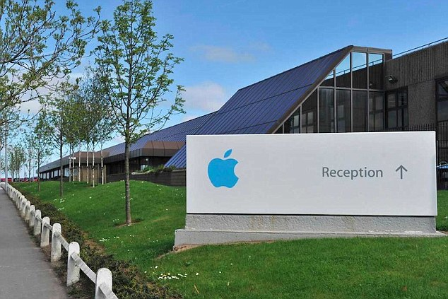 Big bill: Apple, which has a base in Cork, pictured, must repay £11billion (13billion euros) in unpaid tax because the EU says its sweetheart tax deal with Ireland amounted to state aid