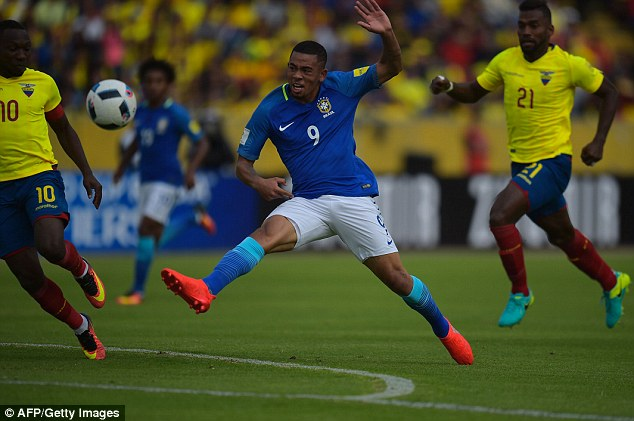 Gabriel Jesus became a serious force late on and was the catalyst for Brazil's win