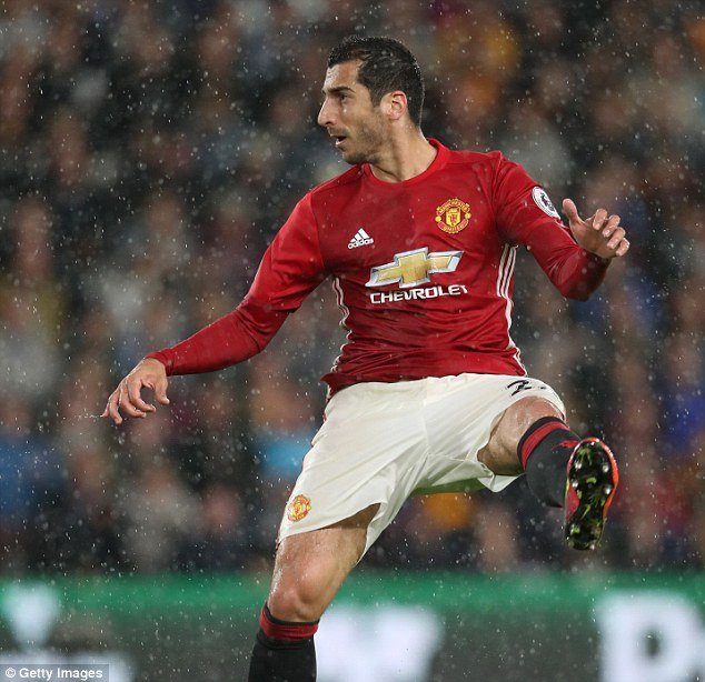 Mkhitaryan's injury could see him miss the derby against Manchester City next week