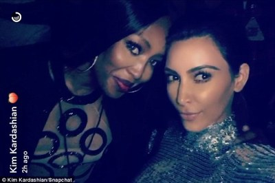 Another selfie: Kim and Naomi took several photos throughout the course of the evening