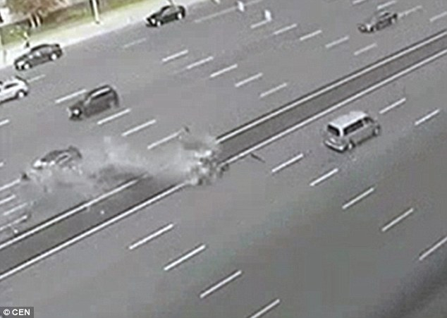 The driver who was killed was not named, although it was reported that he had notched up more than 40 years of driving experience as an official driver