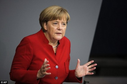 Merkel has said the country has made many strides in the past year in dealing with the hundreds of thousands of migrants who arrived in 2015, but that there is still much to do
