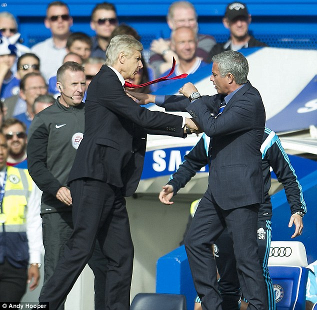 Wenger and Mourinho had a shoving match during a Premier League match in 2014