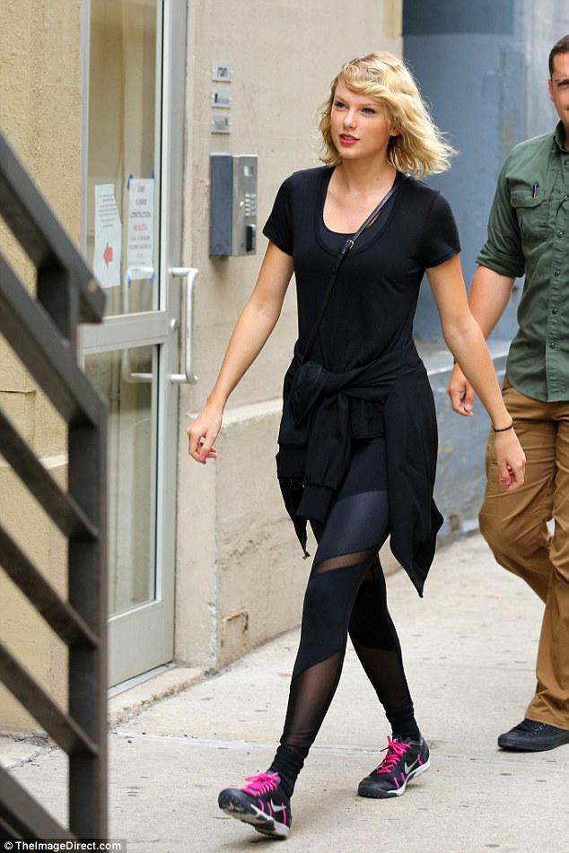 Independent woman: While Tom has been pictured turning to his friends for support this week following the breakup, Taylor appears to be firmly going solo