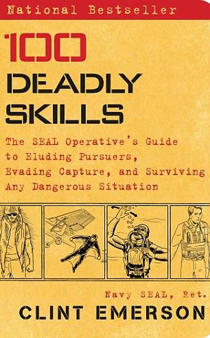 Emerson da a conocer sus técnicas de supervivencia en su libro, 100 habilidades mortales: La Guía del Operativo SEAL de Eludiendo perseguidores, evadir la captura y sobrevivir a cualquier situación peligrosa