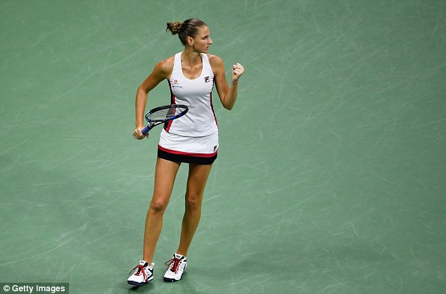 Pliskova claimed a famous victory in the second set tiebreak after an excellent display
