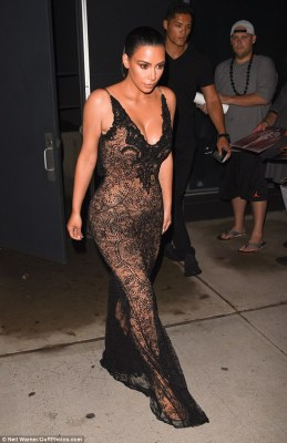 Out for the night: Kim was seen heading to the bash earlier in the evening