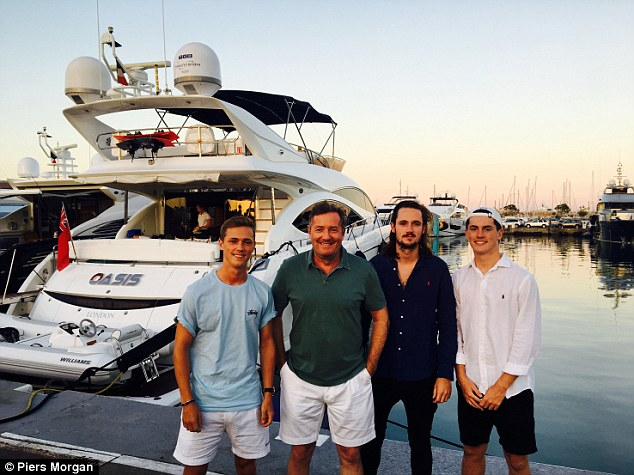Yacht A Treat Piers Morgan And His Sons Discover Their