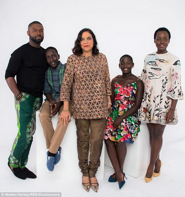 Stars: (From left) David, actor Martin Kabanza, Mira, actress Madina Nalwang and Lupita posed together at the studio