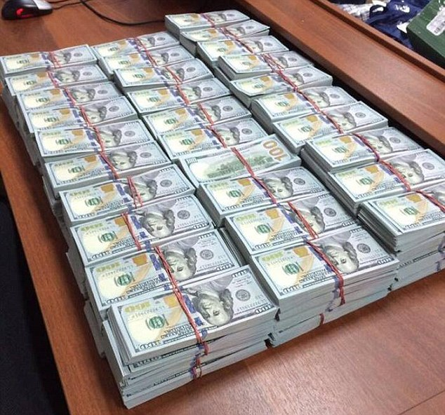 The total amount of money seized is yet to be confirmed exactly, but is believed to be around $122million