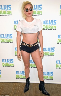 Doing the rounds: She is promoting her new single Perfect Illusion, which was released on Friday