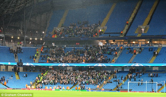 The travelling fans had begun to make their way inside before being told of postponement