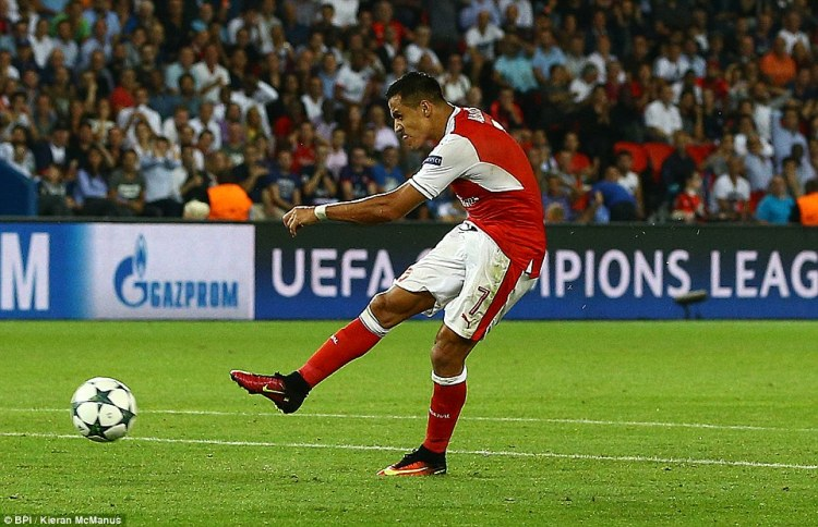 Despite being second best for much of the game Arsenal equalised through Alexis Sanchez with 15 minutes remaining
