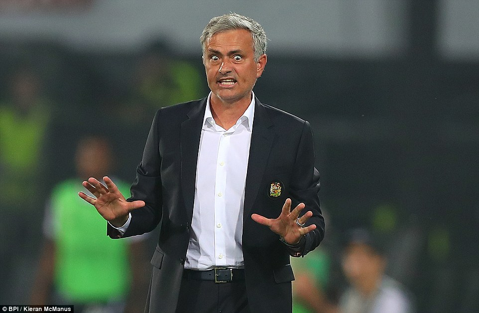 Manchester United manager Jose Mourinho started his Europa League campaign with defeat by Feyenoord
