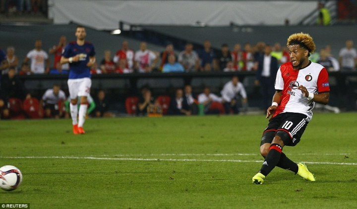 The Feyenoord midfielder slotted home from what appeared an offside position for the winner on 79minutes