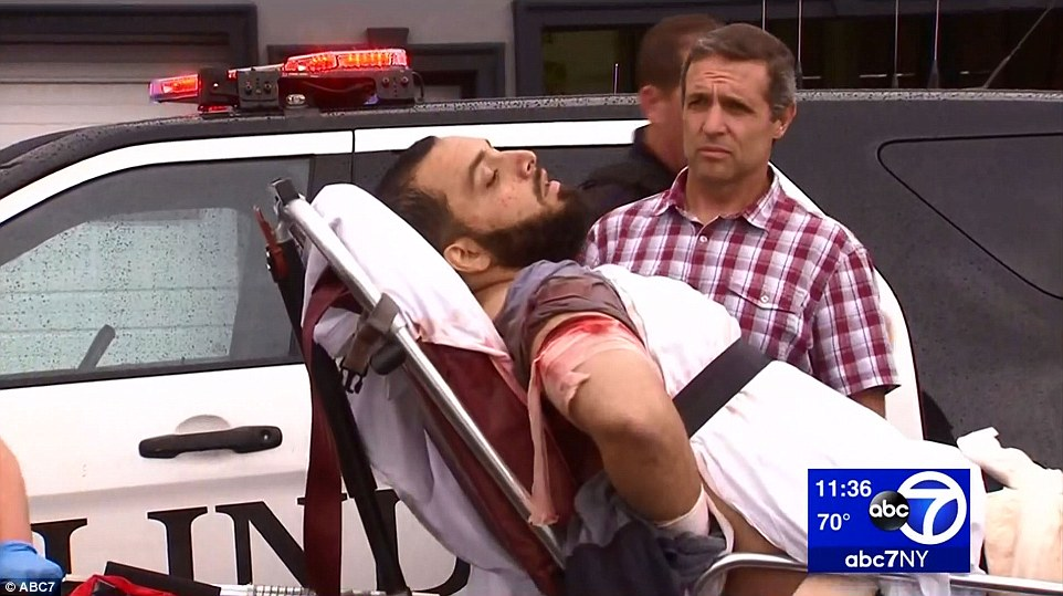 Rahami was also shot during the shootout and was taken from the scene on a stretcher