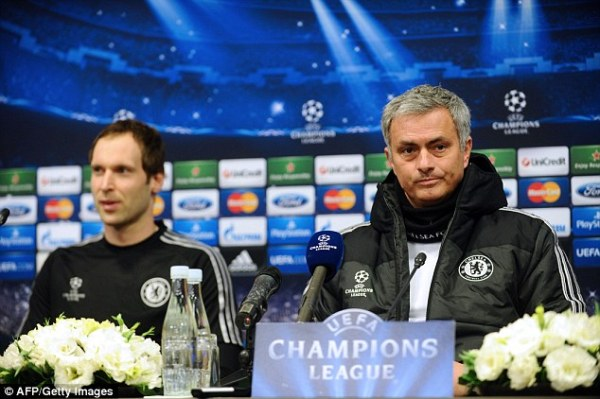 Mourinho did not want to sell Petr Cech (left) to Arsenal, but the goalkeeper made the move