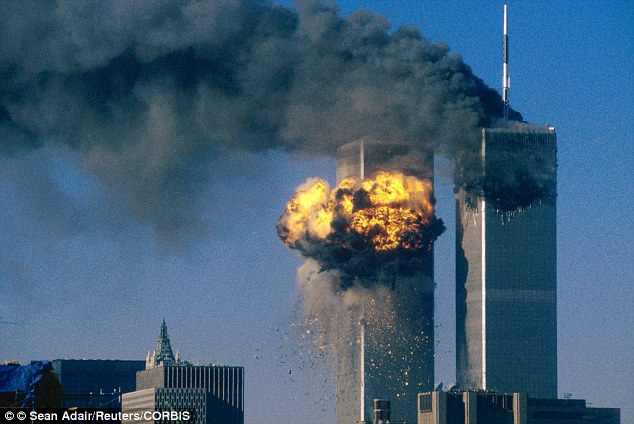 Ms Bi said footage of the 9/11 attacks was too upsetting to show the year 7 class she was helping at Heartlands (stock picture of the tragic incident)