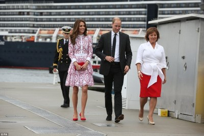 Chrissy Clark, the Premier of British Columbia, was on hand to meet the couple as they arrived in Vancouver today