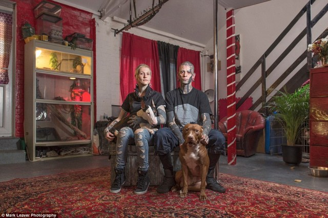 Subjects were photographed in their homes, alongside their partners, children and dogs in order to tell their stories