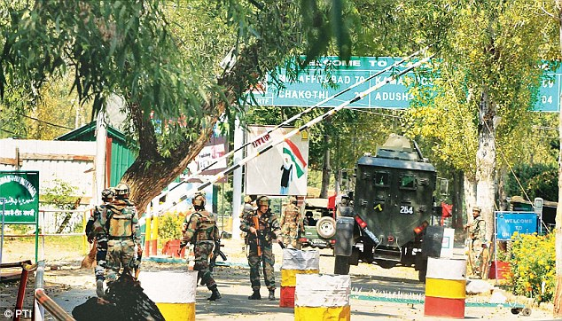 Earlier this month Kashmiri 'terrorists' attacked this Indian Army base at Uri, killing 18 soldiers