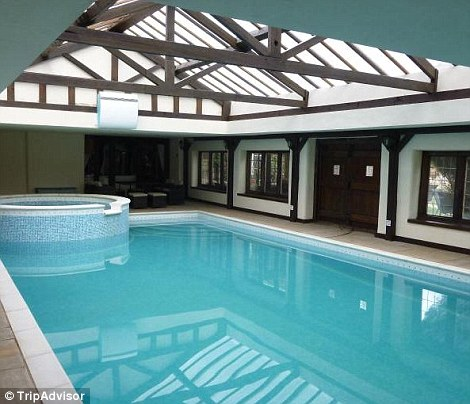 The large indoor heated swimming pool