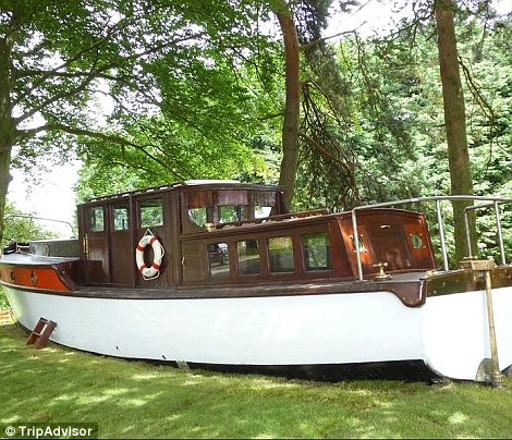 Hag Hill Hall also features a children¿s play boat sitting in the garden