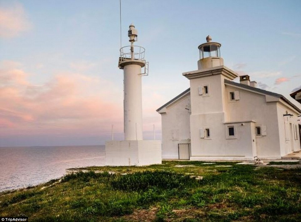 This quaint Croatian lighthouse looks out across the Istrian Peninsula, runs on solar power and collects rainwater in a tank