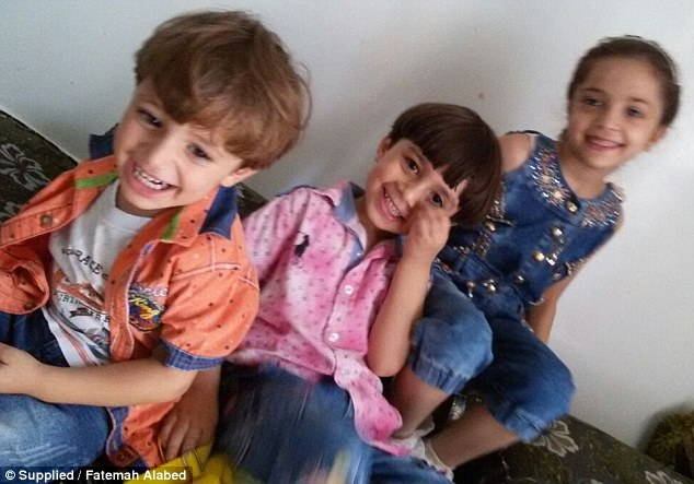Relentless: Bana, her mother and her brothers (pictured several years ago) are trying to survive the fiercest aerial onslaught since the Syrian civil war began