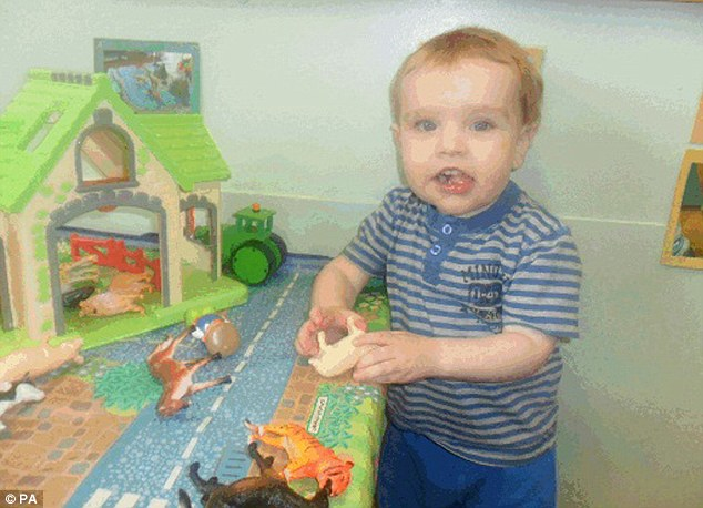 Tiny Liam Fee, pictured, was killed in March 2014 after enduring two years of torture