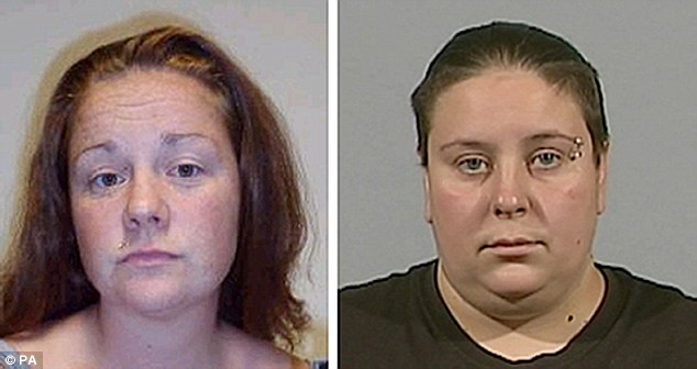 Rachel Fee (left) who is also known as Rachel Trelfa, and her partner Nyomi Fee (right) who were convicted of murdering two-year-old Liam