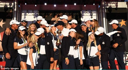 Image result for team usa ryder cup celebration