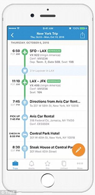 Tripit takes all your confirmation emails and presents you with a sleek on-screen itinerary