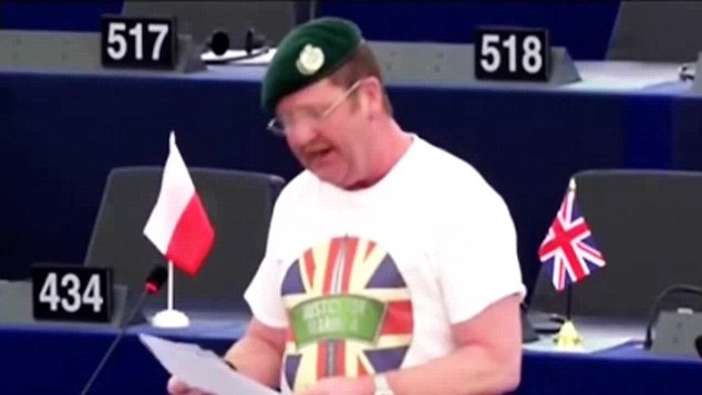Mike Hookem is alleged to have been the other MEP involved in the fight at the meeting