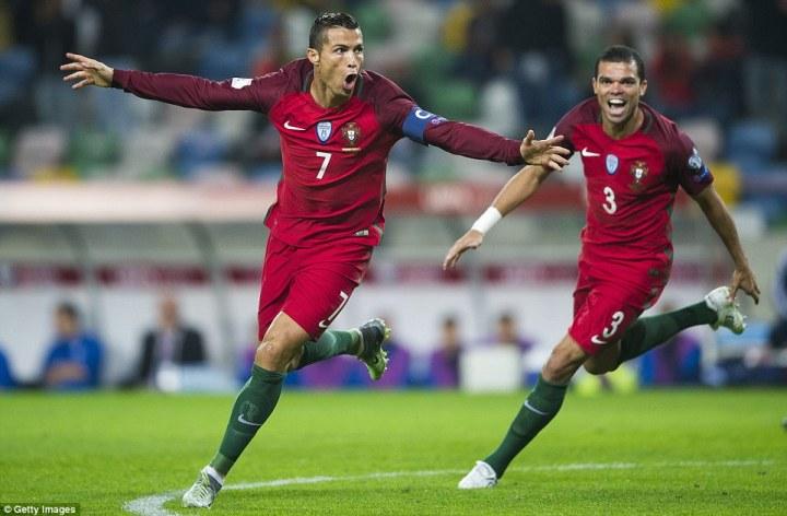 Cristiano Ronaldo scored four goals as Portugal ran riotin Aveiro against Andorra on Friday night